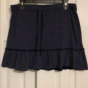 Ann Taylor Loft polka dot elastic skirt, medium